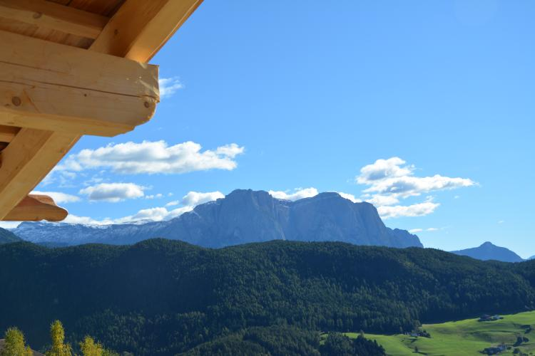 Balcony view from the chalets