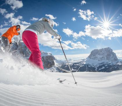 Skiing holidays at the Seiser Alm