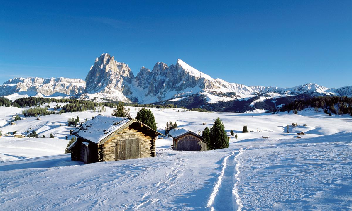 Winter landscapes at the Seiser Alm